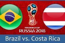 Прогноз на футбол, ЧМ-2018. Бразилия – Коста-Рика, 22.06.18. Потухнут ли бразильцы на холодных российских ветрах?