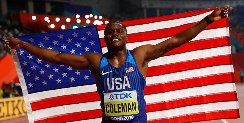 Чемпион мира в беге на 100 метров Кристиан Колман получил двухлетнюю дисквалификацию