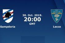 Прогноз на футбол, Сампдория – Лечче, 30.10.2019. Могут ли гости получить положительный результат?